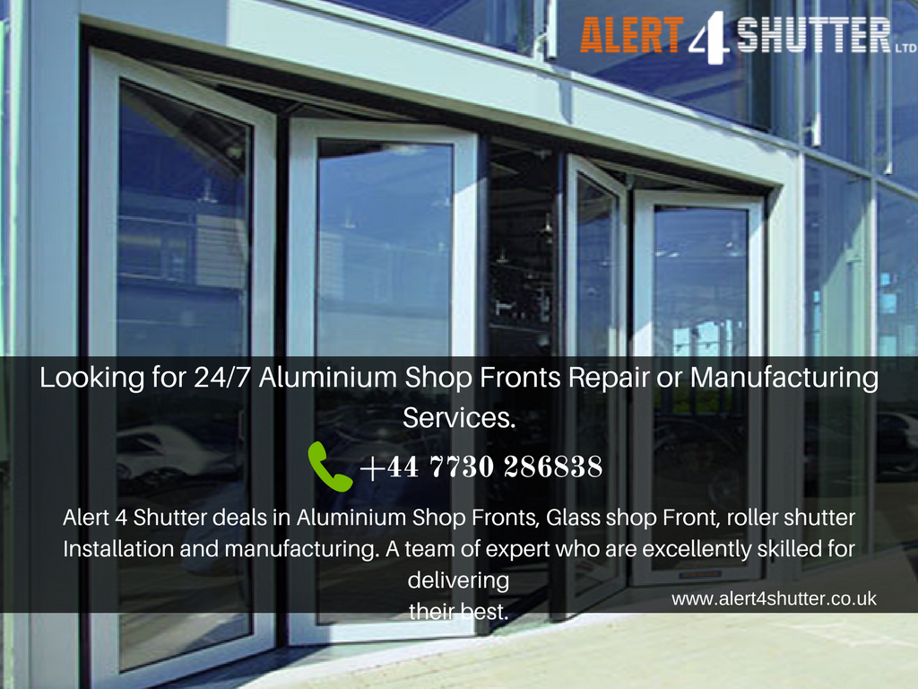 Aluminium Shop Fronts Manufactures and Installer in Ealing